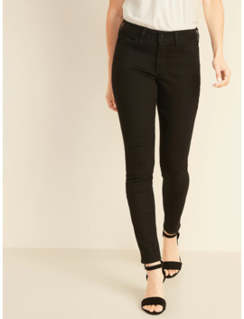 Mid Rise Pop Icon Skinny Black Jeans For Women by Old Navy