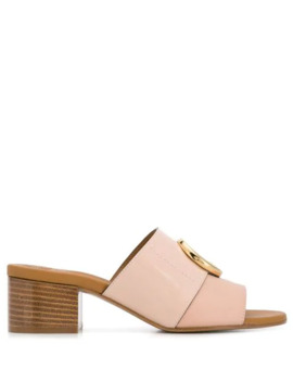 letter-embellished-mules by chloé