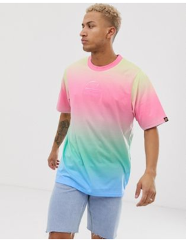 Ellesse Doraddio T Shirt In Rainbow by Ellesse