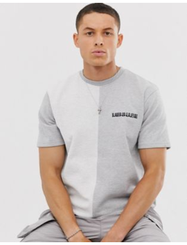Mennace Cut And Sew Jersey T Shirt In Grey by Mennace
