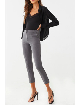Heathered Ankle Pants by Forever 21