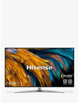 "Hisense H50 U7 Buk (2019) Uled Hdr 4 K Ultra Hd Smart Tv, 50"" With Freeview Play, Black/Silver by Hisense"