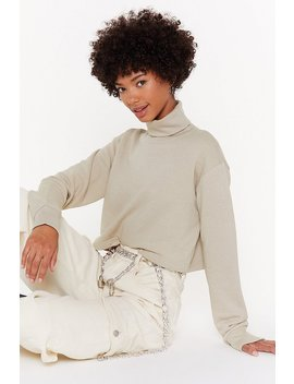 Roll With Me Cropped Turtleneck Sweatshirt by Nasty Gal