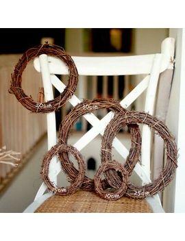 <Span><Span>Wicker Garland Hanging Round Wreath Festive Rattan Ring 10/15/20cm Photoing Prop</Span></Span> by Ebay Seller