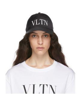Black Valentino Garavani 'vltn' Cap by Valentino