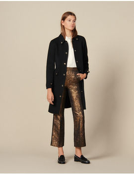 Flared Brocade Tailored Trousers by Sandro Paris