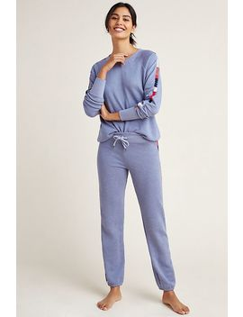 Sundry Mosley Embroidered Sweatpants by Sundry
