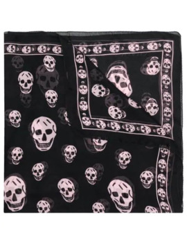 Skull Pattern Scarf by Alexander Mc Queen