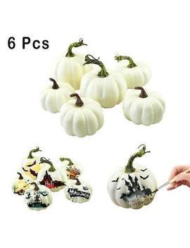 <Span><Span>6 Pcs Halloween Artificial White Pumpkins Harvest Fall Thanksgiving Craft Decor</Span></Span> by Ebay Seller