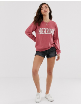 Abercrombie & Fitch Logo Sweatshirt In Red by Abercrombie & Fitch