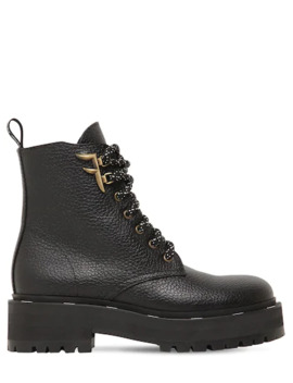 50 Mm Freedom Grained Leather Boots by Fendi