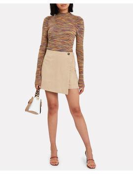 Bridgette Suede Mini Skirt by Intermix