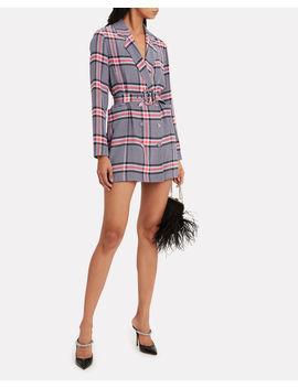 Belted Silk Crepe Blazer Dress by Fleur Du Mal