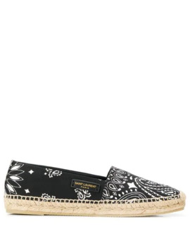 Bandana Print Espadrilles by Saint Laurent
