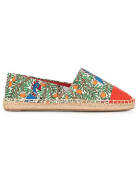 Colour Block Printed Espadrilles by Tory Burch