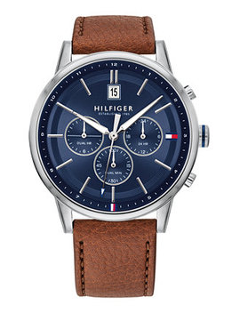 Men's Brown Leather Strap Watch 43mm, Created For Macy's by General