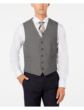 Men's Modern Fit Stretch Solid Vest, Created For Macy's by General
