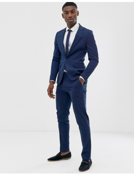 Asos Design Skinny Suit Jacket In Petrol Blue by Asos Design