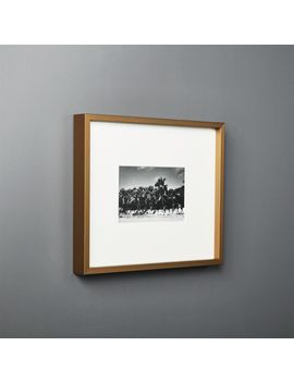 Gallery Brass Frame With White Mat 4x6 by Crate&Barrel