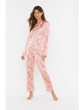 Feeling Slazy Satin Paisley Pyjama Set by Nasty Gal