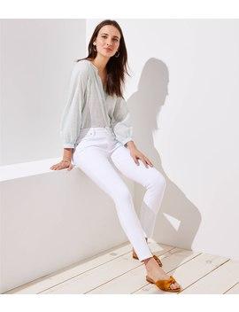 Petite Modern Slim Pocket Skinny Jeans In White by Loft