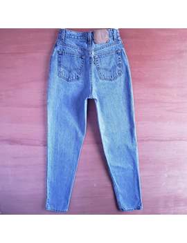 Vintage Levi's 512 High Waist Slim Fit Tapered Leg Jeans In Medium Blue, Item#0042 by Etsy
