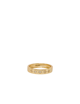 Twinkle Band Ring In Gold by Shashi