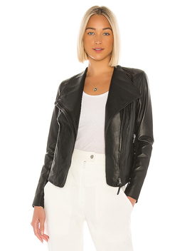 Dinah Leather Jacket In Black by Mackage