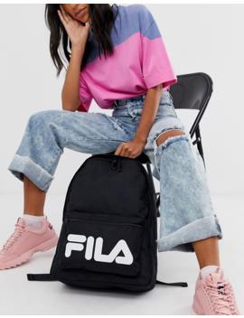 Fila Verda Medium Backpack In Black by Fila
