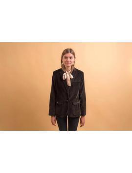 70s Corduroy Blazer / Suede Elbow Patch Blazer / Vintage 70s Corduroy Jacket Δ Size: Xs/S/M by Etsy