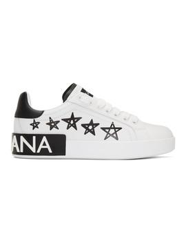 White Portofino Stars Sneakers by Dolce & Gabbana