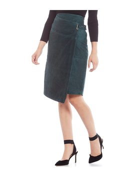 Luxury Collection Laura Genuine Leather Suede Pencil Skirt by Antonio Melani