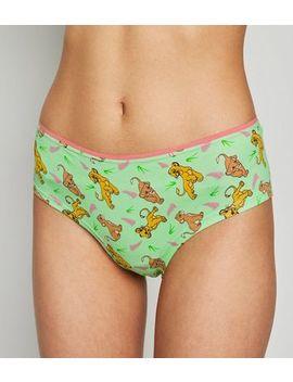 Green Disney Simba And Nala Briefs by New Look
