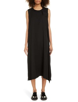 Sleeveless Wool Gabardine Midi Dress by Y's By Yohji Yamamoto