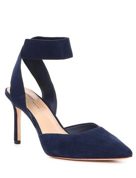 Stelena Suede Ankle Strap Pumps by Antonio Melani