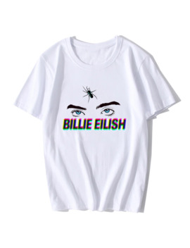 Billie Eilish California Singer Music Artist Album Cover Fan Eye T Shirt New Short Sleeve Streetwear T Shirts Tee Shirt by Ali Express.Com