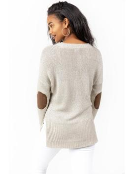Micah Elbow Patch Sweater by Francesca's