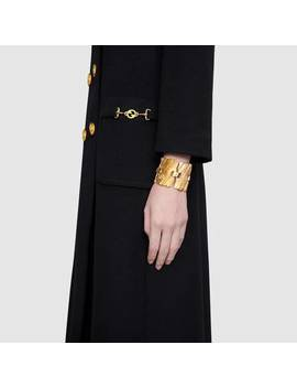 Textured Metal Bracelet With Interlocking&Nbsp;G by Gucci