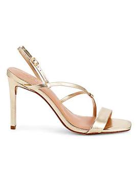 Metallic Leather Sandals by Schutz