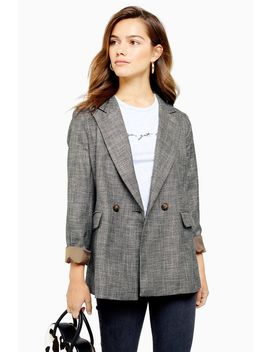 Petite Salt And Pepper Double Breasted Blazer by Topshop