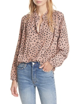Le Faune Dot Long Sleeve Blouse by La Vie Rebecca Taylor