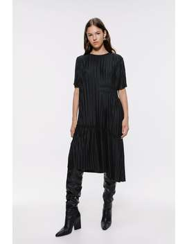 Asymmetric Pleated Dress View All Dresses Woman by Zara