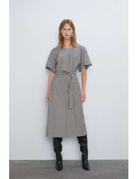 Houndstooth Dress View All Dresses Woman by Zara