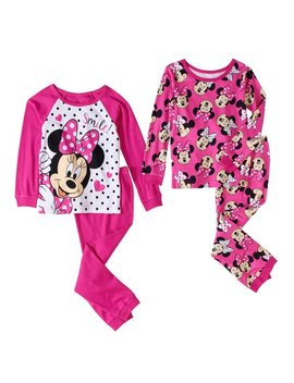 Minnie Mouse Toddler Girl Holiday Gift Collection by Toddler Girls Pajama Sets