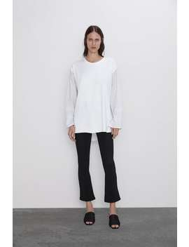 Contrast Top View All T Shirts Woman by Zara