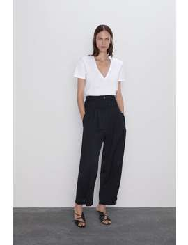 Accentuated Shoulder T Shirt View All T Shirts Woman by Zara