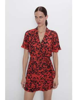 Printed Mini Jumpsuit View All Dresses Woman by Zara