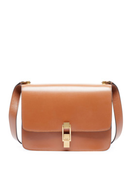 Carre Smooth Leather Crossbody Bag by Saint Laurent