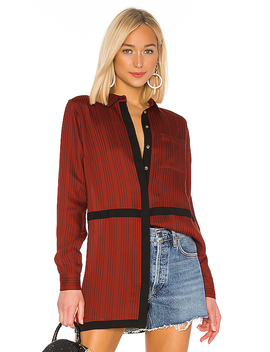 X Revolve Marie Blouse In Spice Red by House Of Harlow 1960