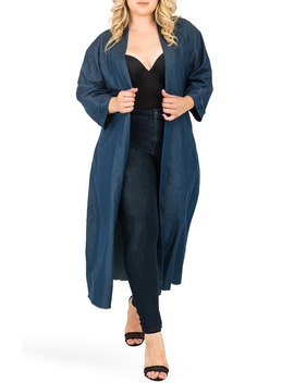 Kumiko Tie Waist Duster by Standards & Practices
